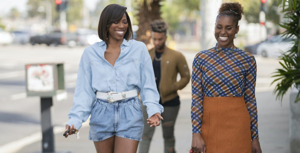 L-r: Yvonne Orji, Issa Rae. Photograph by Merie W. Wallace/HBO