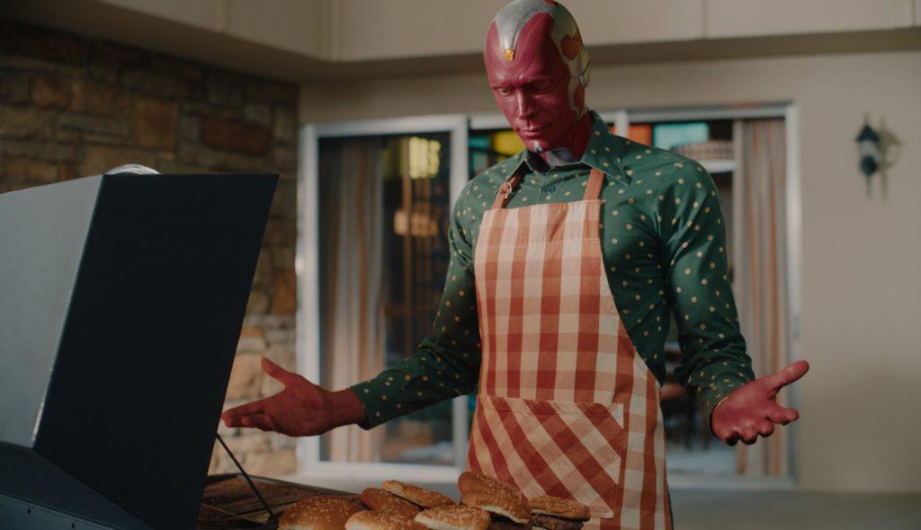 Paul Bettany as Vision in Marvel Studios' WandaVision. Courtesy Marvel Studios.