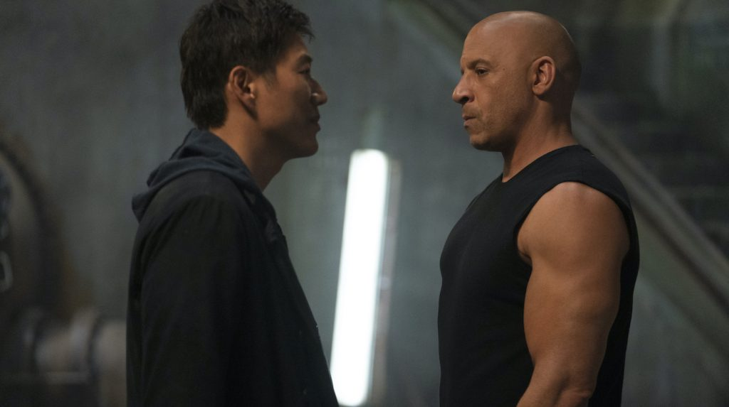 L-r: Han (Sung Kang) and Dom (Vin Diesel) in 'F9.' Courtesy Universal Pictures.