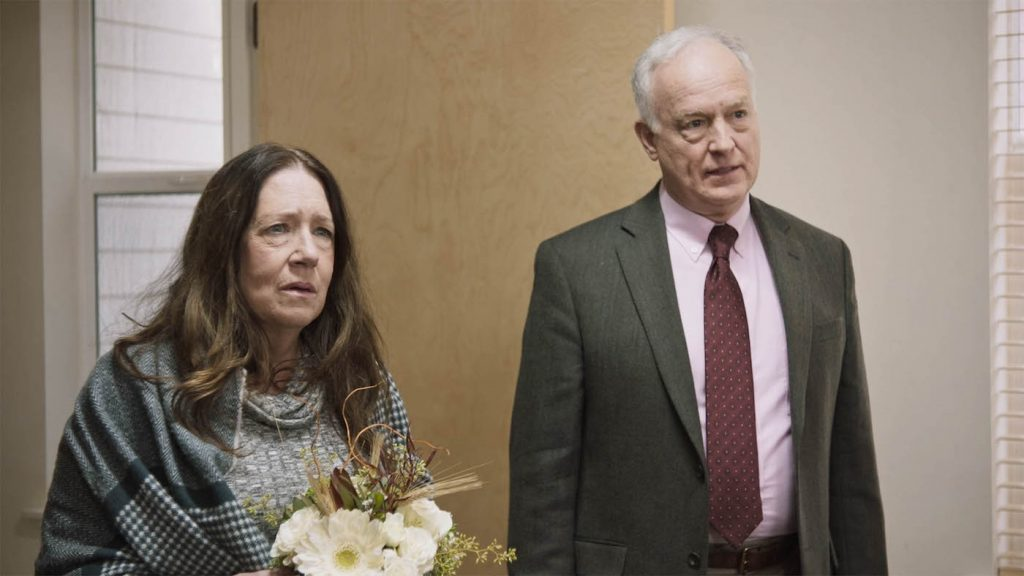 """Ann Dowd and Reed Birne appear in """"Mass>"""" Photo by Ryan Jackson-Healy."""