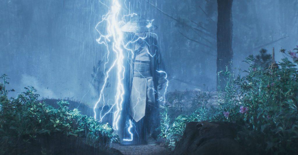 "Caption: TADANOBU ASANO as Lord Raiden in New Line Cinema's action adventure ""Mortal Kombat,"" a Warner Bros. Pictures release. Photo Credit: Courtesy Warner Bros. Pictures"