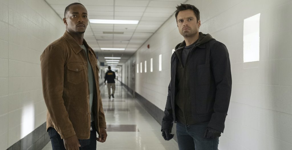 """Anthony Mackie and Sebastian Stan in """"The Falcon and The Winter Soldier."""" Courtesy Marvel Studios"""