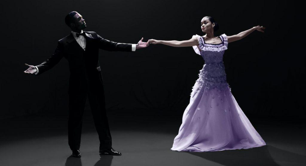 Jimmy Fletcher (Trevante Rhodes) and Billie Holiday (Andra Day), shown. (Photo by: Takashi Seida/Hulu)