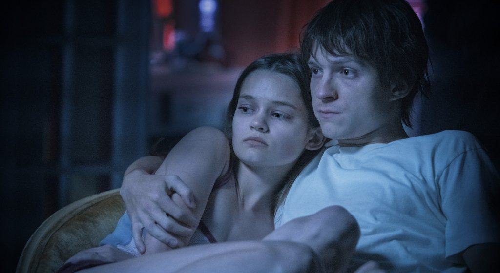 """Tom Holland and Ciara Bravo in """"Cherry,"""" premiering globally March 12, 2021 on Apple TV+."""
