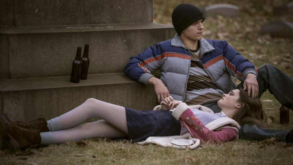 "Tom Holland and Ciara Bravo in ""Cherry,"" premiering globally March 12, 2021 on Apple TV+."
