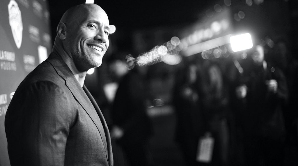 WEST HOLLYWOOD, CA - APRIL 05: (EDITORS NOTE: Image has been converted to black and white) Dwayne Johnson attends the 2018 LA Family Housing Awards at The Lot in West Hollywood on April 5, 2018 in West Hollywood, California. (Photo by Matt Winkelmeyer/Getty Images)