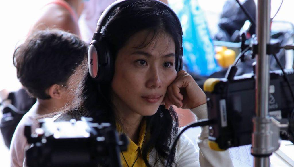 Tan Chui Mui on set.