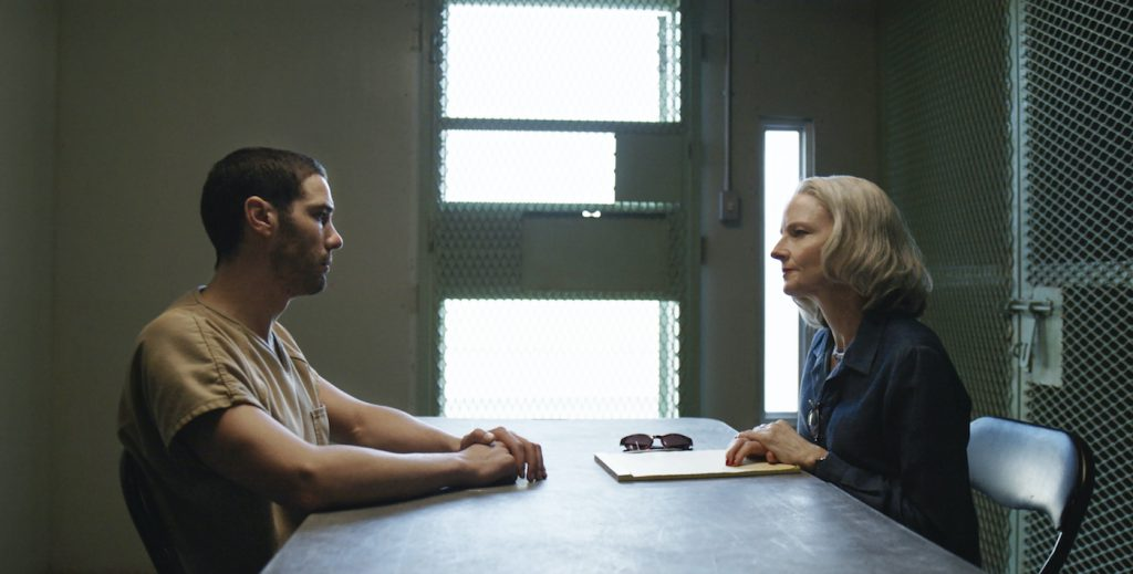 "Tahar Rahim and Jodie Foster in ""The Mauritanian."" Courtesy STX Films."