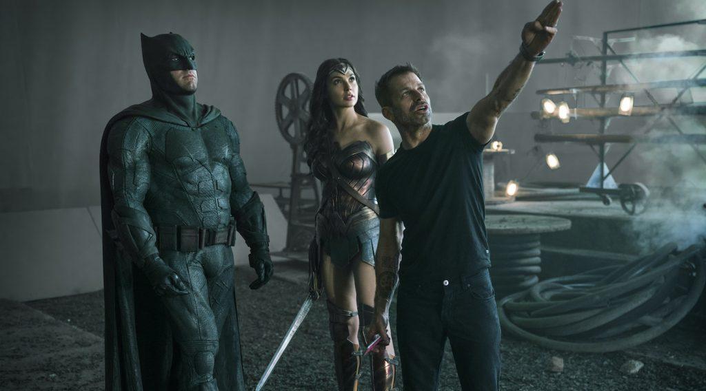 Ben Affleck (Batman / Bruce Wayne), Gal Gadot (Diana Prince / Wonder Woman), Zack Snyder (Director). Courtesy HBO Max.