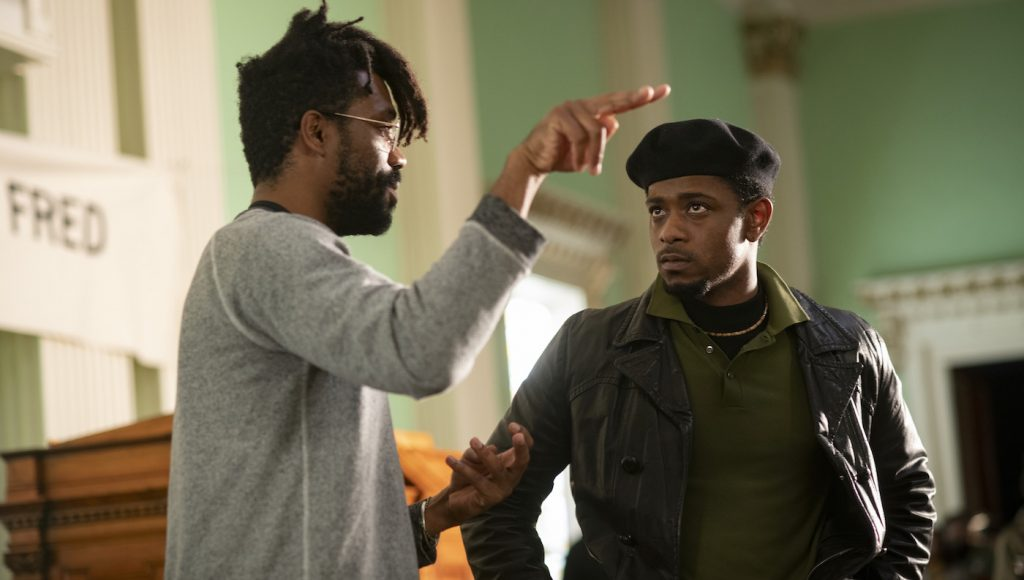 "Caption: (L-r) Director SHAKA KING and LAKEITH STANFIELD on the set of Warner Bros. Pictures' ""JUDAS AND THE BLACK MESSIAH,"" a Warner Bros. Pictures release. Photo Credit: Glen Wilson"