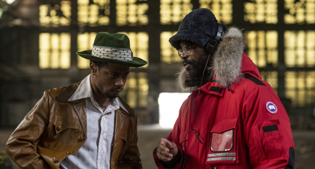 "Caption: (L-r) LAKEITH STANFIELD and director SHAKA KING on the set of Warner Bros. Pictures' ""JUDAS AND THE BLACK MESSIAH,"" a Warner Bros. Pictures release. Photo Credit: Glen Wilson"