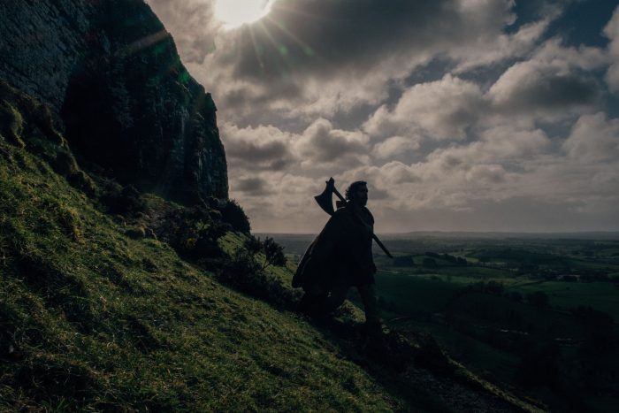 """Dev Patel in """"The Green Knight."""" Photo by Eric Zachanowich. Courtesy of A24"""