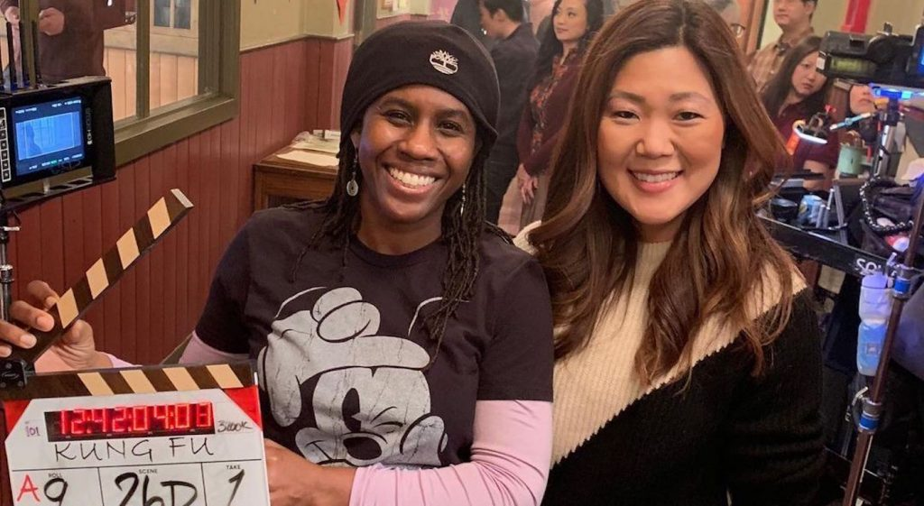 Hanelle Culpepper and Christina M. Kim   on the set of 'Kung Fu.' Courtesy The CW.