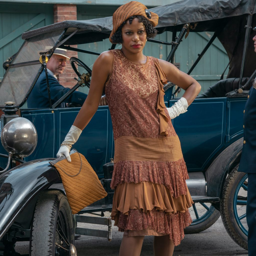 Taylour Paige is Dussie Mae in MA RAINEY'S BLACK BOTTOM(2020). Cr. David Lee/NETFLIX