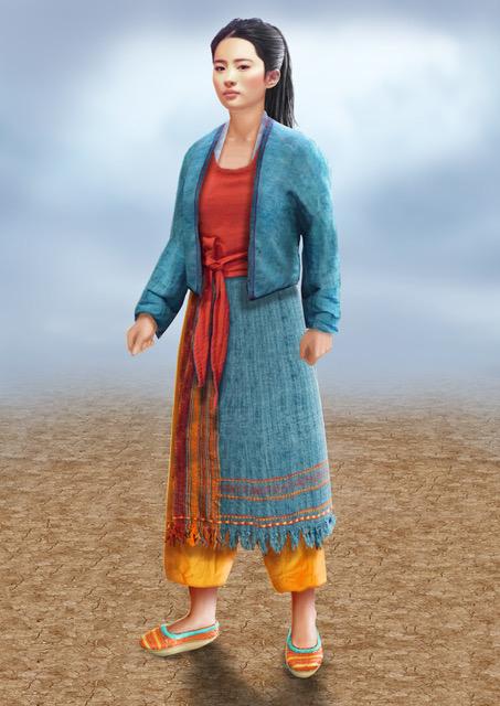 The design for Mulan after the matchmakers. Courtesy Bina Daigeler/Walt Disney Studios