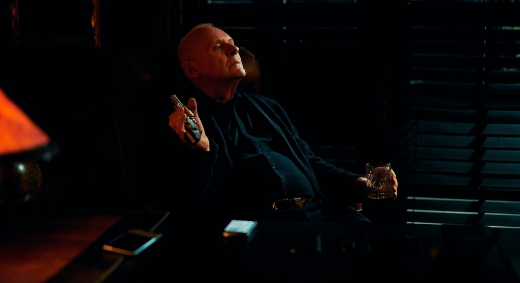 Anthony Hopkins as The Mentor in The Virtuoso. Photo Credit: Lance Skundrich