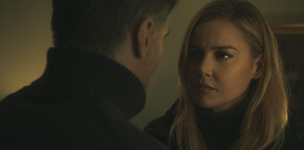 Anson Mount as The Virtuoso and Abbie Cornish as The Waitress in The Virtuoso. Photo Credit: Courtesy of Lionsgate