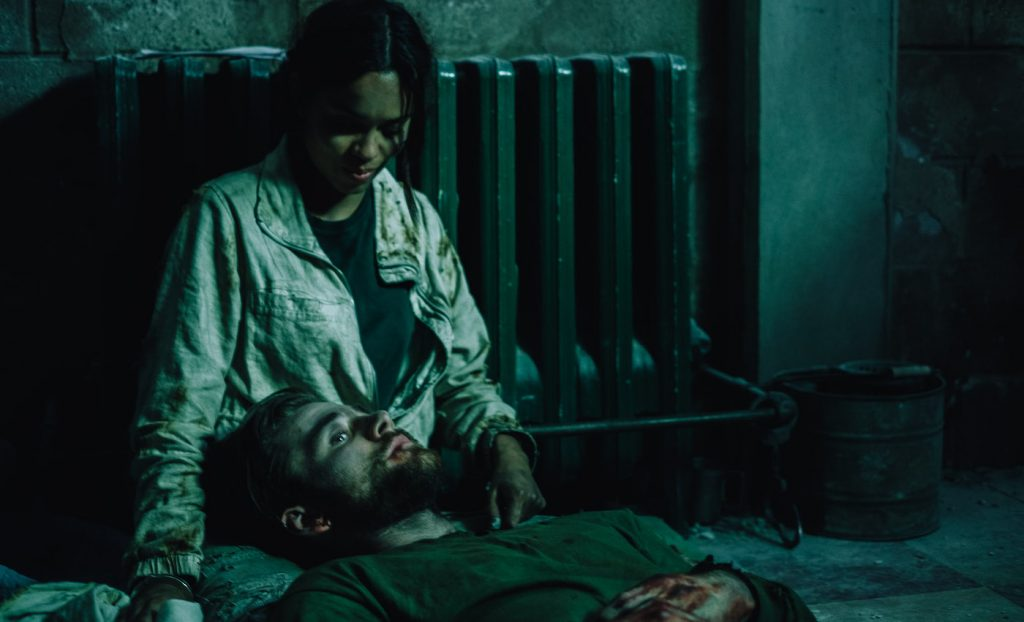 Georgina Campbell as Khadija Young and Luke Benward as Luke White in the thriller WILDCAT, a Saban Films release. Photo courtesy of Saban Films.