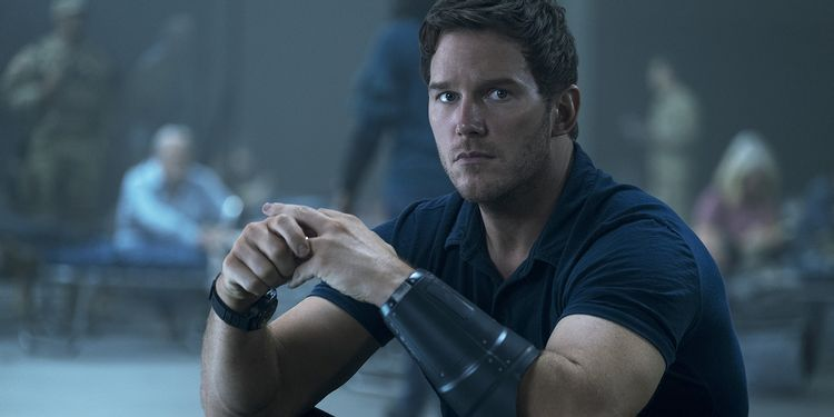 "Chris Pratt is Dan in ""The Tomorrow War."" Courtesy Amazon Studios"