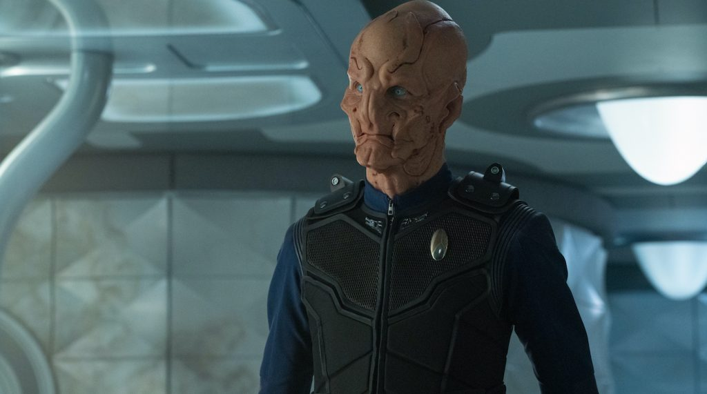 """""""The Hope That is You, Part 2"""" — Ep#313 — Pictured: Doug Jones as Saru of the CBS All Access series STAR TREK: DISCOVERY. Photo Cr: Michael Gibson/CBS ©2020 CBS Interactive, Inc. All Rights Reserved."""