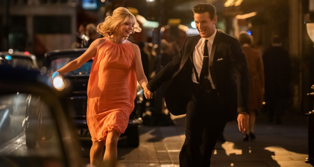 Anya Taylor-Joy stars as Sandie and Matt Smith as Jack in Edgar Wright's LAST NIGHT IN SOHO, a Focus Features release. Credit: Parisa Taghizadeh / Focus Features