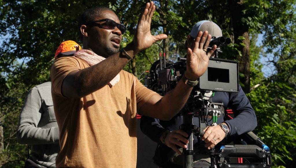 David Oyelowo in a behind the scenes still from the adventure/drama film, THE WATER MAN, an RLJE films release. Photo courtesy of Karen Ballard.