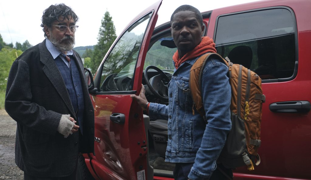(L-R) Alfred Molina as Jim Bussey and David Oyelowo and Amos Boone in the adventure/drama film, THE WATER MAN, an RLJE films release. Photo courtesy of Karen Ballard.