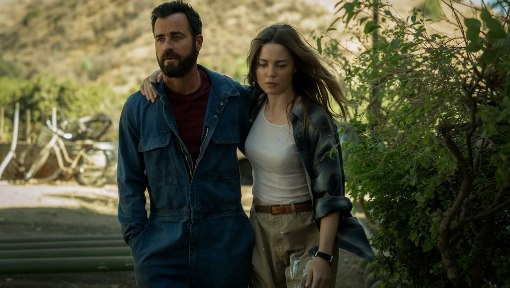 """Justin Theroux and Melissa George in """"The Mosquito Coast,"""" now streaming on Apple TV+."""