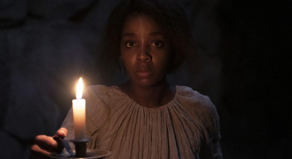 "Thuso Mbedu is Cora Randall in ""The Underground Railroad."" Photo by Kyle Kaplan. Courtesy Amazon Studios."