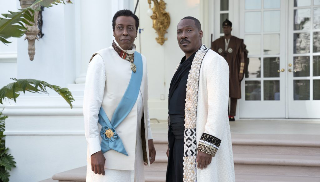 Arsenio Hall and Eddie Murphy star in COMING 2 AMERICA Photo: Quantrell D. Colbert © 2020 Paramount Pictures