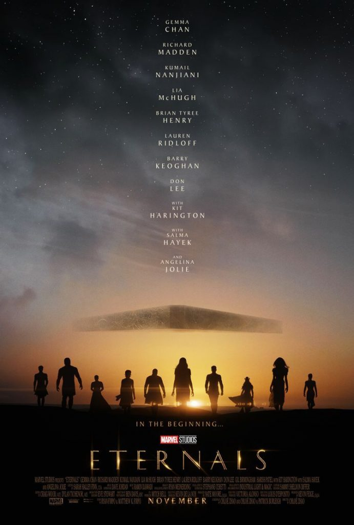 """Eternals"" poster. Courtesy Marvel Studios."