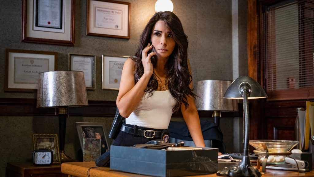 """Marisol Nichols as Captain Angie Garza in """"Spiral."""" Photo by Brooke Palmer. Courtesy Lionsgate."""