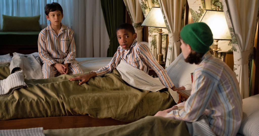 L-r: Mystic Inscho, Seth Car, Emmy Deoliveira. Courtesy Disney/Diyah Pera.