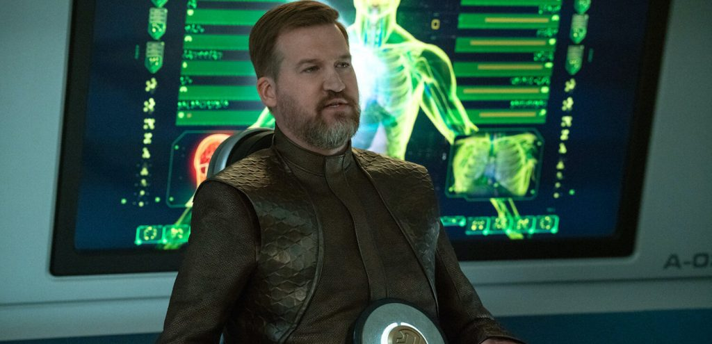 Pictured: Kenneth Mitchell as Aurellio of the CBS All Access series STAR TREK: DISCOVERY. Photo Cr: Michael Gibson/CBS ©2020 CBS Interactive, Inc. All Rights Reserved.