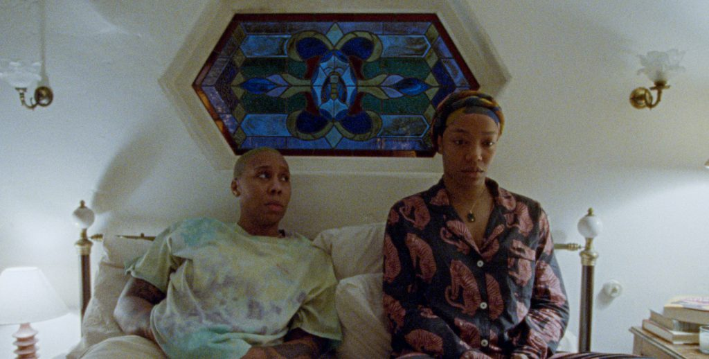 MASTER OF NONE S3 (L to R) LENA WAITHE as DENISE and NAOMI ACKIE as ALICIA in episode 301 of MASTER OF NONE. Cr. COURTESY OF NETFLIX © 2021