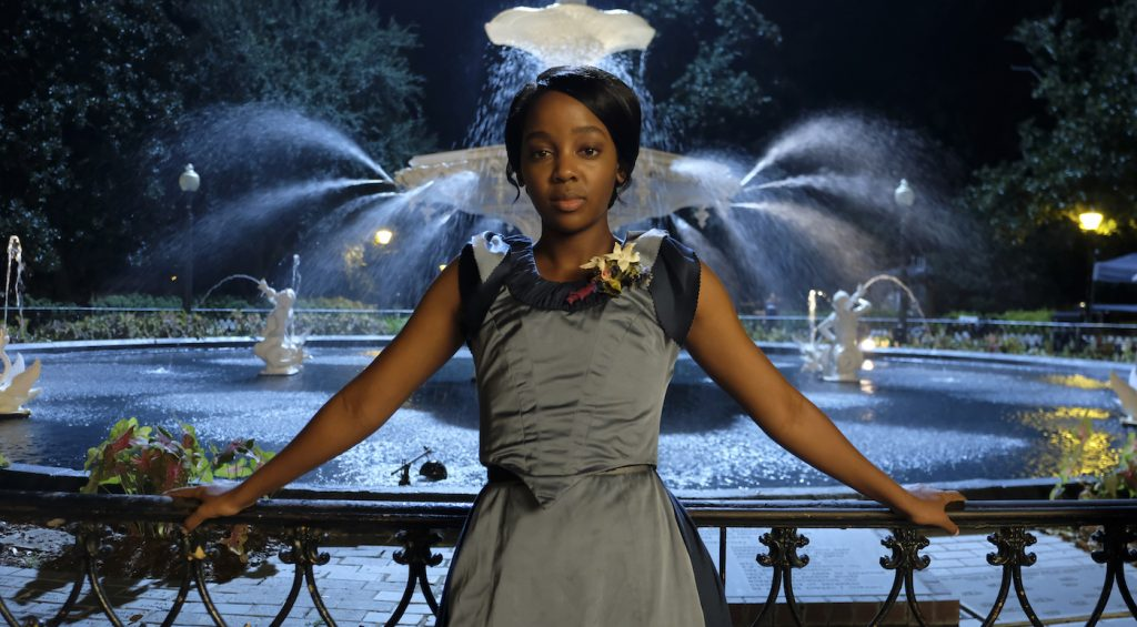 """Thuso Mbedu is Cora Randall in """"The Underground Railroad."""" Photo by Kyle Kaplan/Courtesy Amazon"""