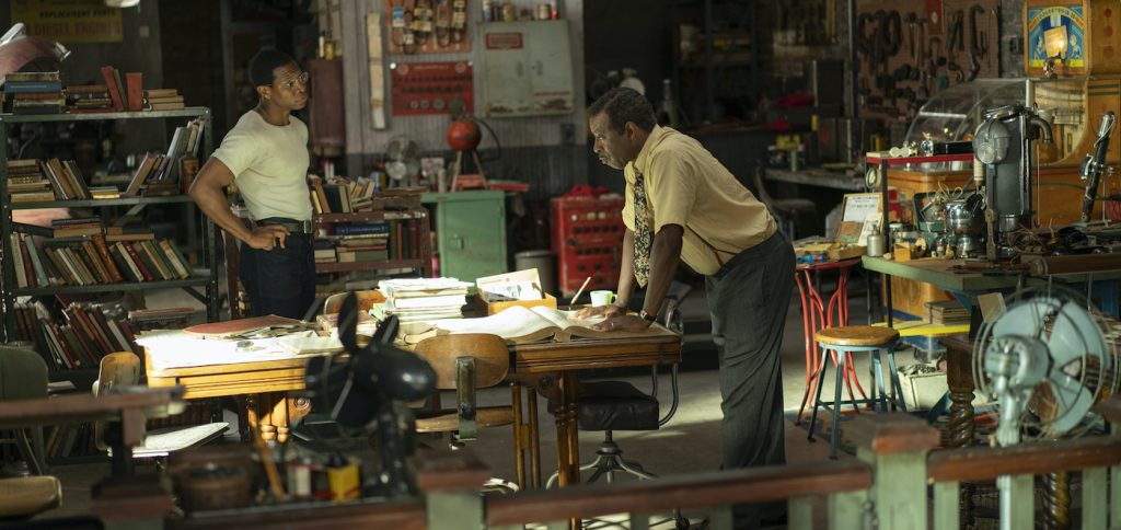 """Jonathan Majors and Courtney B Vance in """"Lovecraft Country."""" Photo courtesy Photograph by Eli Joshua Ade/HBO"""