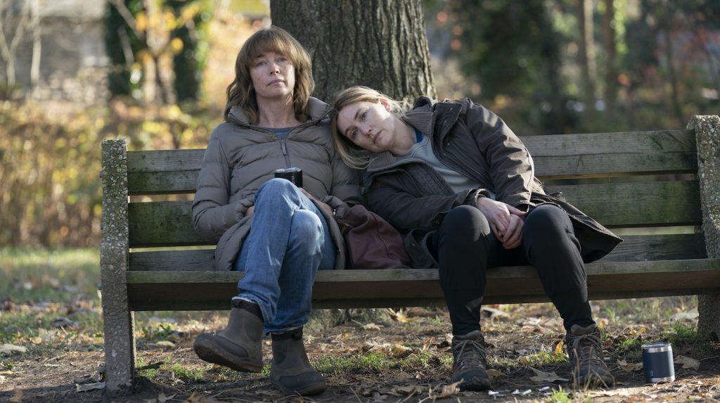 Julianne Nicholson, Kate Winslet. Photograph by Sarah Shatz/HBO