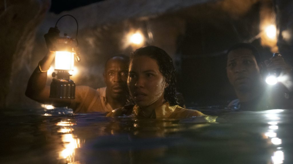 Michael K. Williams, Jurnee Smollett, Jonathan Majors. Photograph by Eli Joshua Ade/HBO