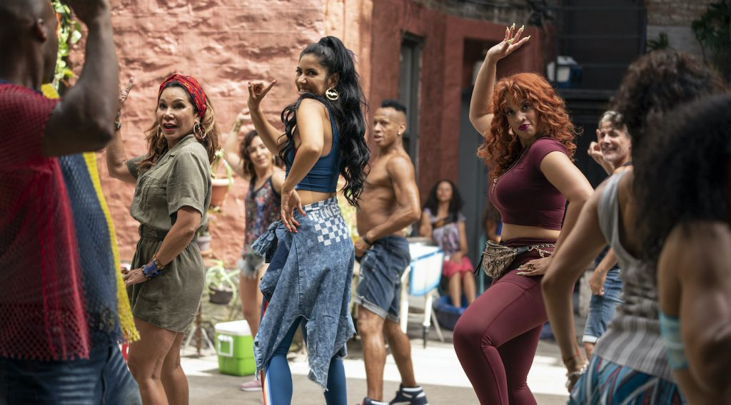 """Caption: (L-r) DAPHNE RUBIN-VEGA as Daniela, STEPHANIE BEATRIZ as Carla and DASCHA POLANCO as Cuca in Warner Bros. Pictures' """"IN THE HEIGHTS,"""" a Warner Bros. Pictures release. Photo Credit: Macall Polay"""