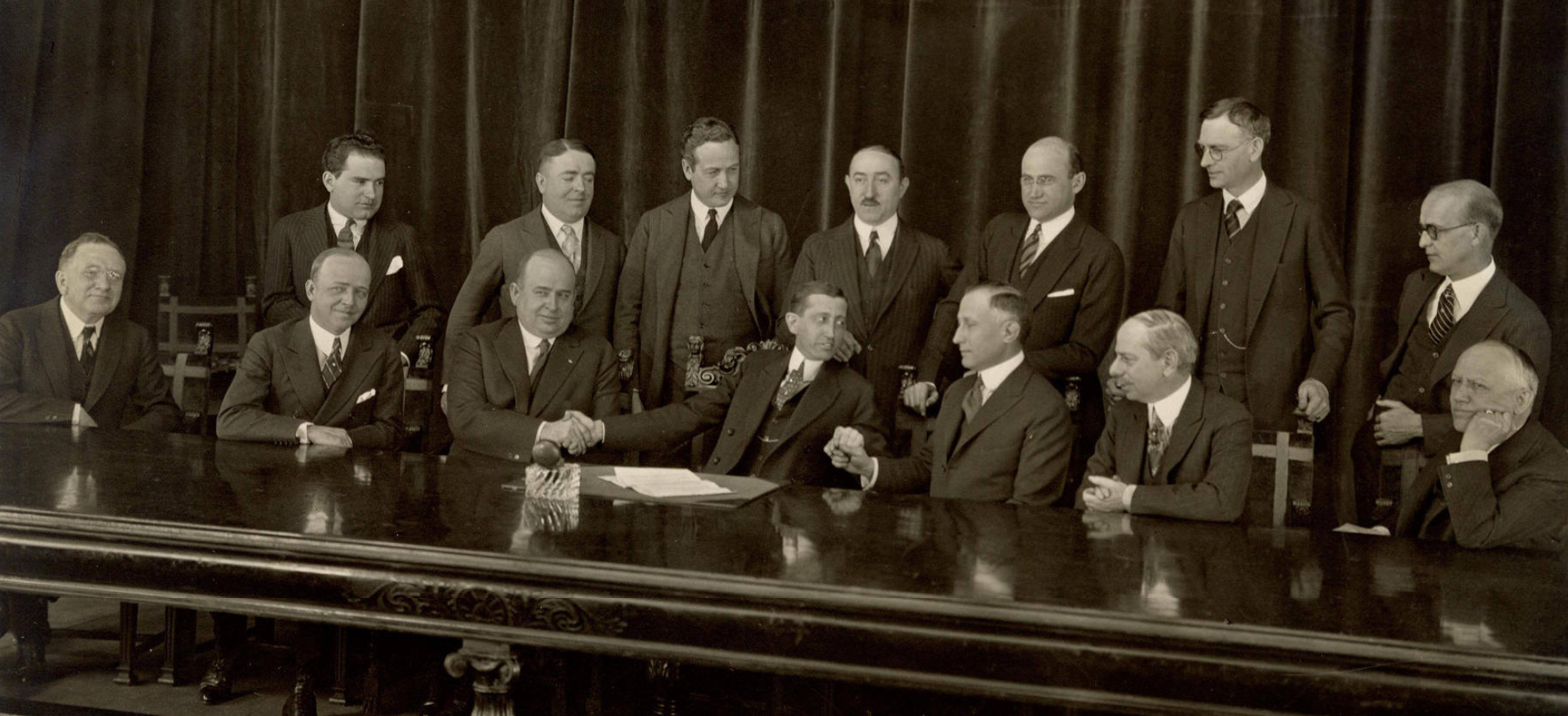Photo of the first meeting of the Motion Picture Producers and Distributors of America (MPPDA) in 1922