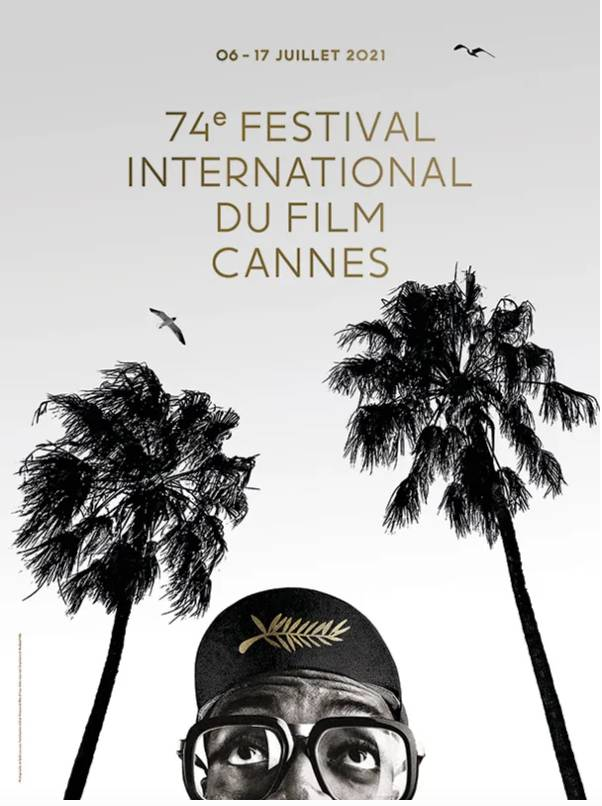Credits of the official poster of the 74th Festival de Cannes. Photograph of Spike Lee courtesy of Bob Peterson & Nike © All rights reserved. Graphic design © Hartland Villa