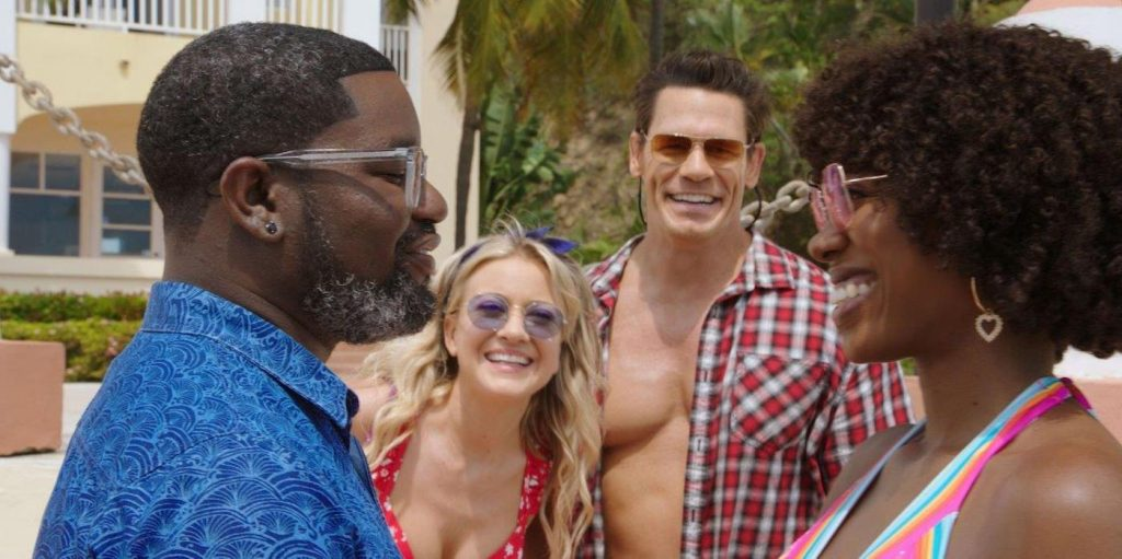L-r: Lil Rel Howery, Meredith Hagner, John Cena, and Yvonne Orji in