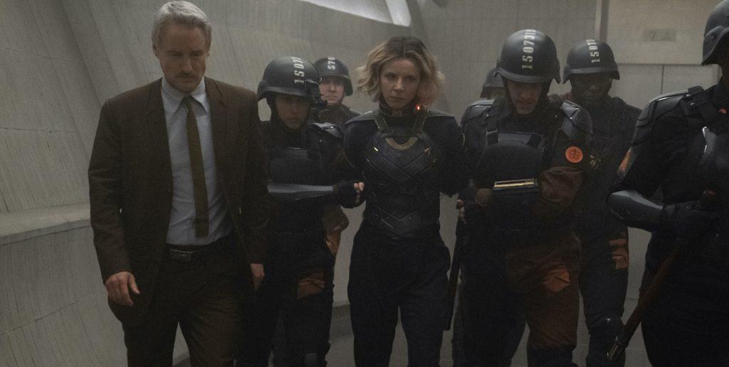 "Mobius (Owen Wilson) and Sylvie (Sophia Di Martino) in Marvel Studios' ""Loki."" Photo courtesy of Marvel Studios."