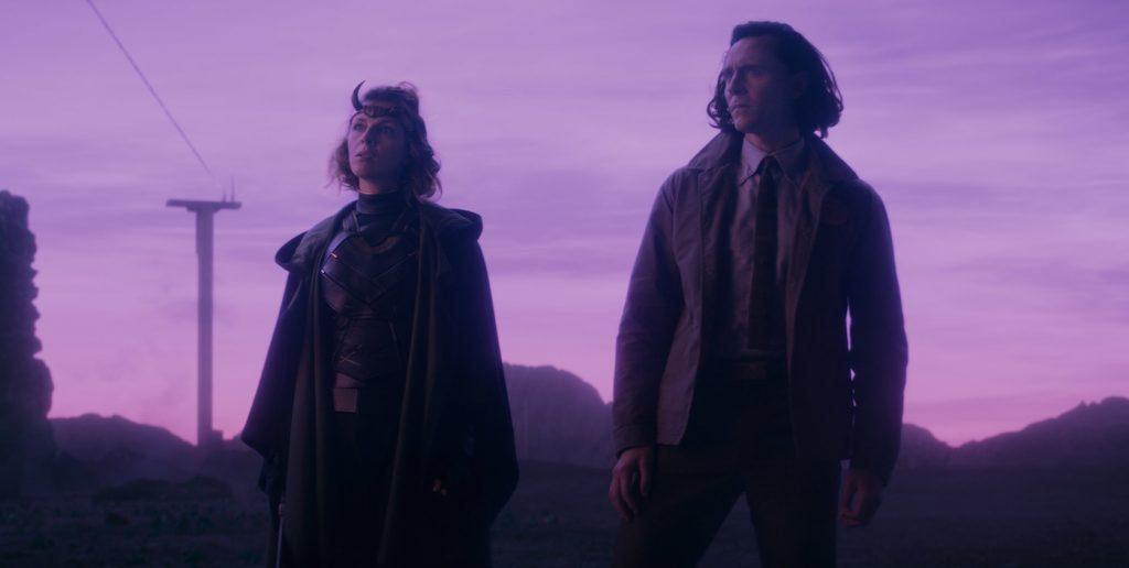 """L-r: Sophia Di Martino and Loki (Tom Hiddleston) in """"Loki."""" Photo courtesy Marvel Studios."""