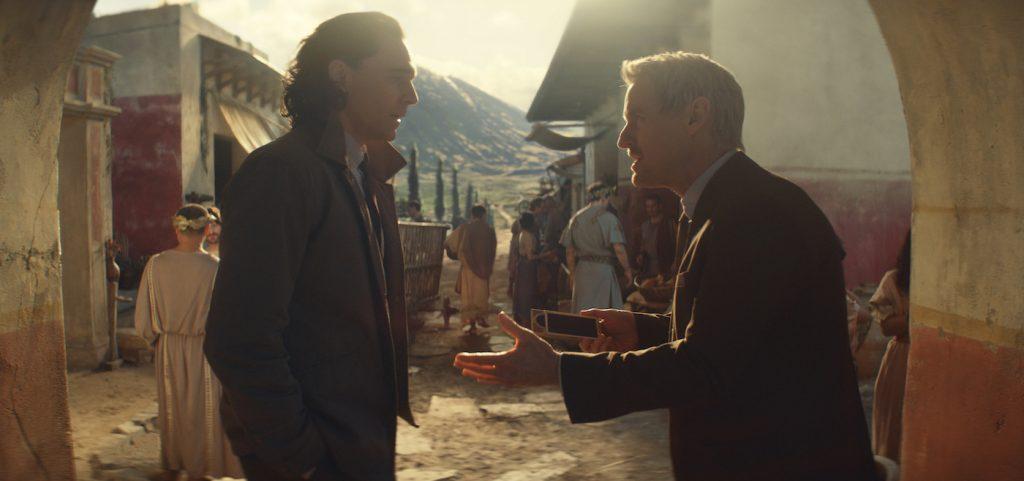 "L-r: Loki (Tom Hiddleston) and Mobius (Owen Wilson) in Marvel Studios' ""Loki."" Photo courtesy of Marvel Studios."