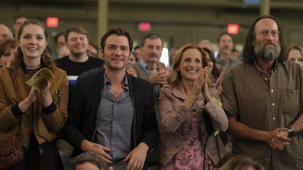 "Amy Forsyth, Daniel Durant, Marlee Matlin and Troy Kotsur in ""CODA,"" premiering globally on Apple TV+ on August 13, 2021."