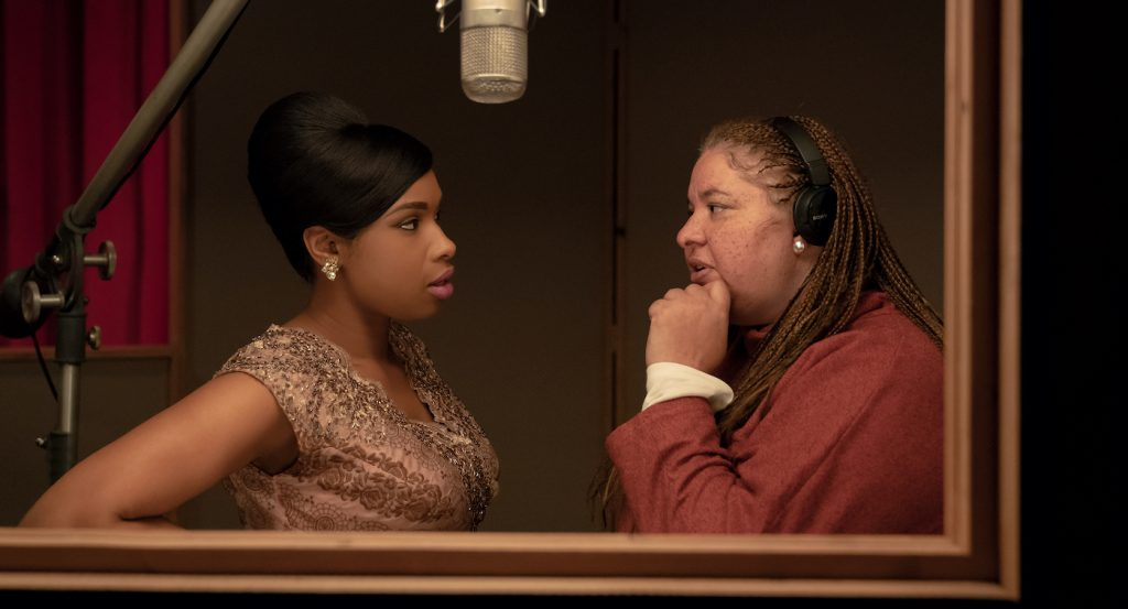 Actor Jennifer Hudson and director Liesl Tommy on the set of RESPECT A Metro Goldwyn Mayer Pictures film Photo credit: Quantrell D. Colbert