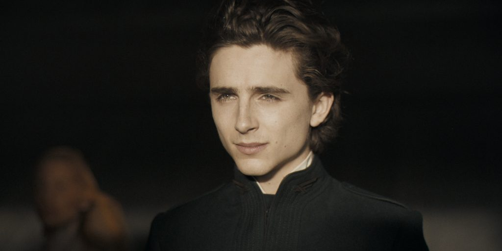 """Caption: TIMOTHÉE CHALAMET as Paul Atreides in Warner Bros. Pictures' and Legendary Pictures' action adventure """"DUNE,"""" a Warner Bros. Pictures release. Photo Credit: Courtesy of Warner Bros. Pictures and Legendary Pictures"""