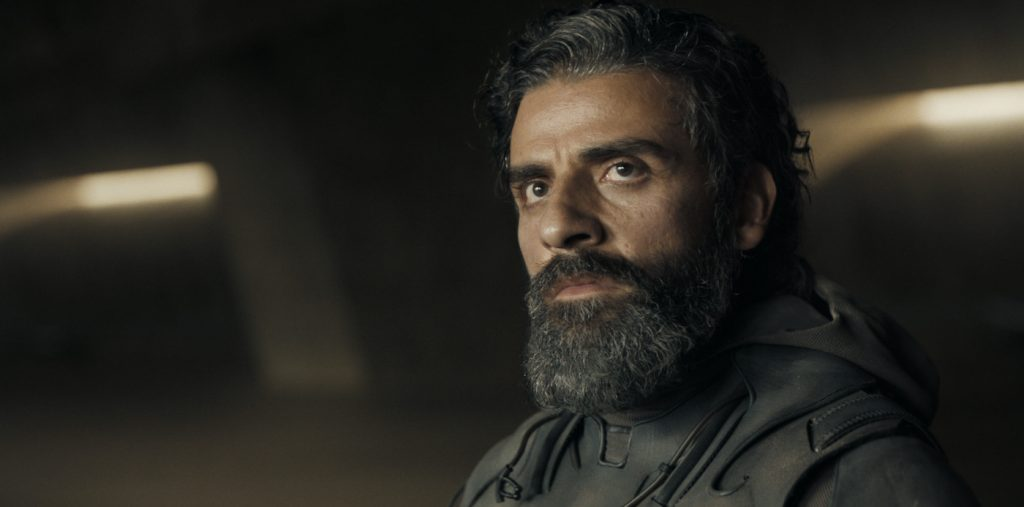"""Caption: OSCAR ISAAC as Duke Leto Atreides in Warner Bros. Pictures' and Legendary Pictures' action adventure """"DUNE,"""" a Warner Bros. Pictures release. Photo Credit: Courtesy of Warner Bros. Pictures and Legendary Pictures"""